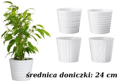 Ikea Kardemumma Osłonka Doniczki Biała 24 Cm S34