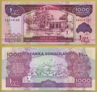 -- SOMALILAND 1000 SHILLINGS 2011 CK P20a UNC