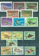 znaczki - WIETNAM  - 2 serie z rybami