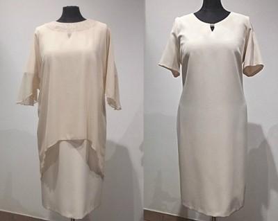 dda315d6f9 Elegancka sukienka z narzutką na wesele - R.54 - 6666013310 ...