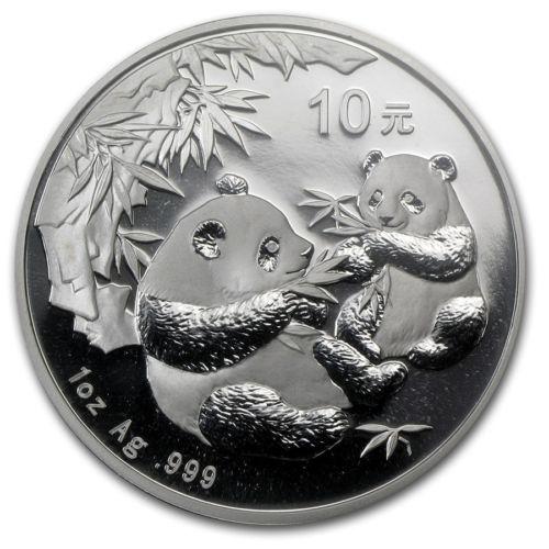 Chiny 2006 - 10 yuan - panda - srebro