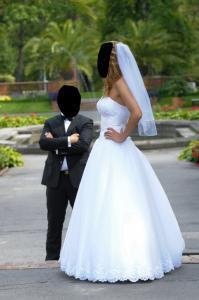 c10d74a0cf suknia ślubna z odpinanym trenem Legionowo - 5045053530 - oficjalne ...