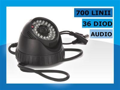 Kamera SONY z AUDIO 700 TVL telewizja.PRZEMYSLOWA