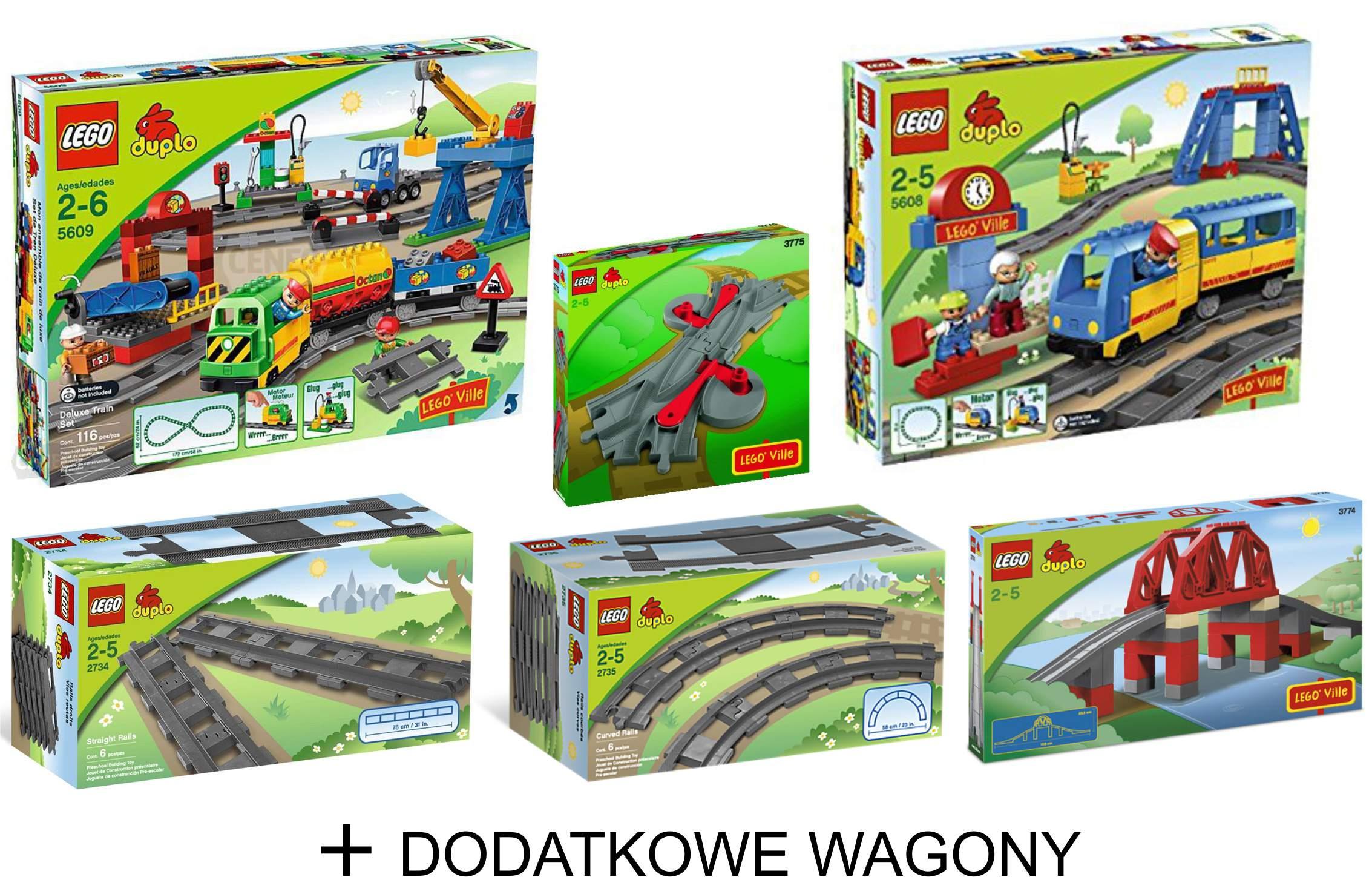 Lego Duplo Wielki Zestaw Pociągi Most Tory 7012625418