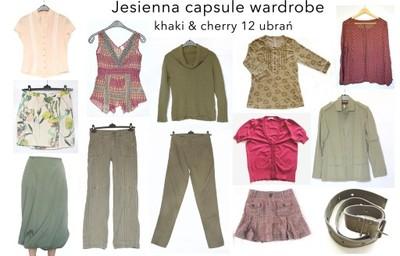 capsule wardrobe khaki 38 zestaw 12 szt ubran