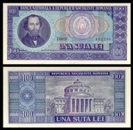 Rumunia 100 lei 1966r. P-97 AU ( 1- )