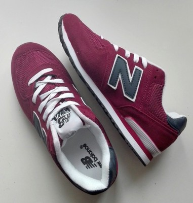 new balance 574 bordowy