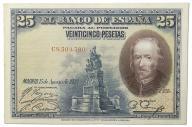 34.Hiszpania, 25 Peset 1928, P.74.b, St.3+
