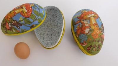 jajko duże Pojemnik ozdobny jajko kolorowe 22 cm