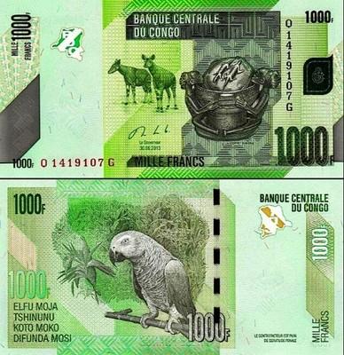 # KONGO - 1000 FRANKÓW - 2013 - P101 - UNC