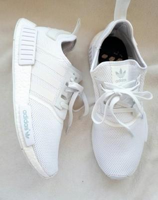 Męskie Buty Adidas Nmd_r1 'triple White'   Biały