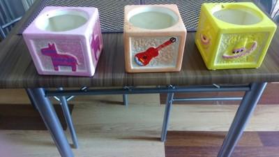 Ceramiczne Doniczki Na Kwiaty Ręcznie Malowane 6819489552