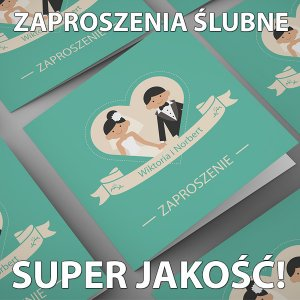 Super Zaproszenia ślubne Gotowe Wzory 20 Szt 6092087746