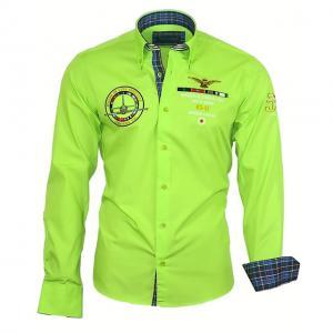82103 BINDER DE LUXE koszula męska haftowana #XXL  Fq6Ky
