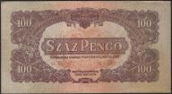 129.WĘGRY - 100 PENGO - 1944 , st. 3 -