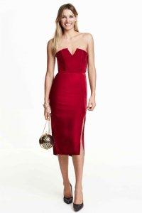 6c259905f3 sukienka bandeau H M HM czerwona 34 - 6154629116 - oficjalne ...