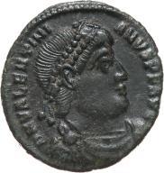 Walentynian I 364-375, follis 365-367, Siscia