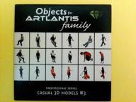 ARTLANTIS Objects - Casual 3D models #3 CD Dysk