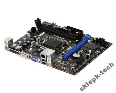 MSI H61M-P20  s1155 H61 DVI  DDR3 FV SKLEP