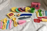 Zestaw zabawek sztućców i naczyń kuchennychccc