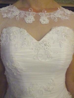 Biała Suknia ślubna Delfina Litera A 36 Welon Koło 6808709614