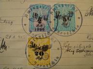 znaczki opłaty - okupacja 1941 r. - JAROTSCHIN