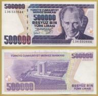 -- TURCJA 500000 LIRASI 1970 (1998) L36 P212 UNC