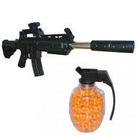 Karabin szturmowy M4 na kulki + granat z kulkami