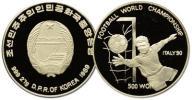 21.KOREA PÓŁNOCNA, 500 WON 1989 MUNDIAL '90