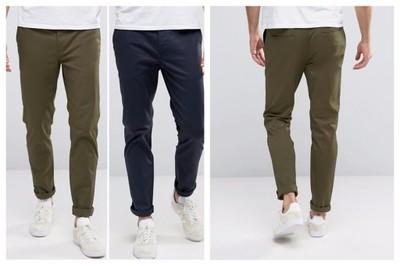 mm94 spodnie chinos 2 pary khaki granatowe W36 L34