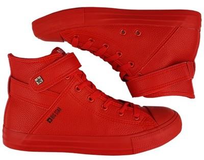 BIG STAR Trampki męskie Y174025 całe czerwone 45