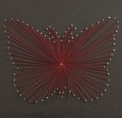 Ogromny Obrazek String Art HANDMADE Motyl PREZENT - 6521137640 - oficjalne KB66