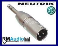 NEUTRIK NA3MP przejściówka Jack 6,3mm - XLR męski
