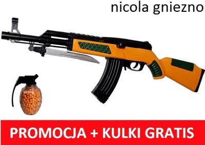 KARABIN SNAJPER AK47 NA KULKI + GRANAT KULEK 656