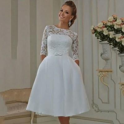 7e4b14da48 Suknia Sukienka Ślubna Krótka Cywilny Na JUŻ!!! - 6814075661 ...