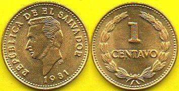 SALVADOR  1 Centavos  1981 r.