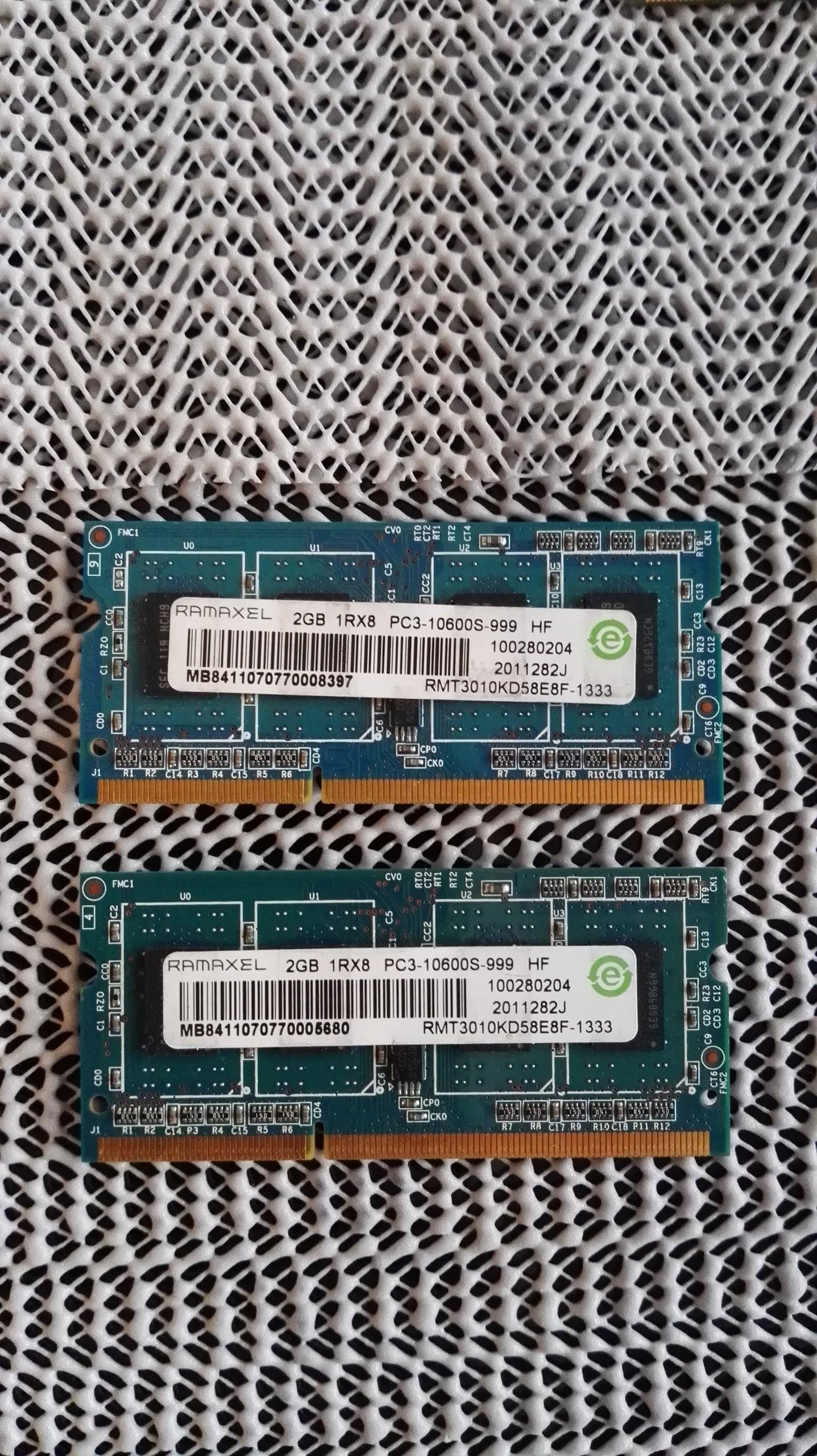 Pamięć RAM RAMAXEL 2GB 1Rx8 PC3-10600S KRAKÓW