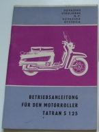 INSTRUKCJA OBSŁUGI SKUTER TATRAN S 125 03B 1968 r