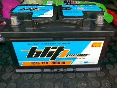 Akumulator samochodowy Blitz 12V 72Ah 700A P+