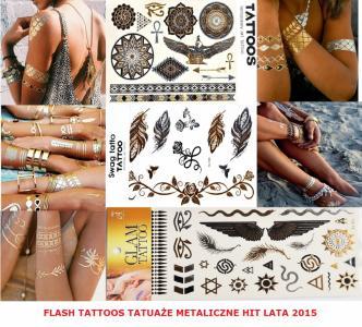 Flash Tattoo Tatuaże Metaliczne Tatuaż 15 Wzorów