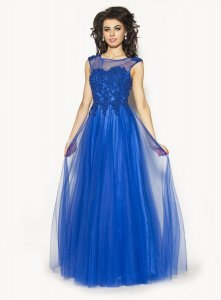 d73cd99a29 40(L) szafir sukienka maxi długa IP-2075 - 6521418392 - oficjalne ...