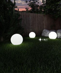 Kula Ogrodowa świecąca Moon 35cm Lampa Ogrodowa 6220676334