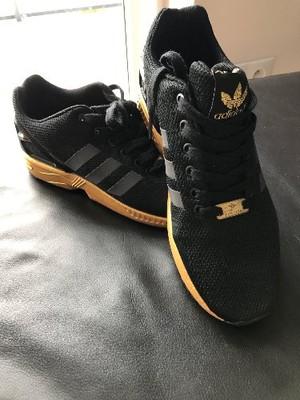 buty adidas damskie zx flux czarno zlote