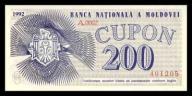 Mołdawia 200 cupon 1992r. P-2 UNC