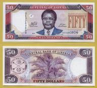 -- LIBERIA 50 DOLLARS 2011 DE P29f UNC