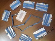 Kieszonka na identyfikator z taśmą niebieską 10szt