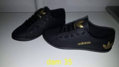 świetne oferty szerokie odmiany najlepszy design Trampki adidas czarne logo zlote rozmiar 40 - 6875067701 ...