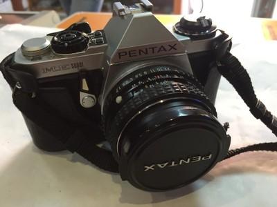 Świetny aparat Pentax Me Super! Akcesoria! Torba!