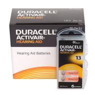 60szt x Baterie słuchowe DURACELL DA13(PR48) B6
