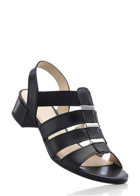 czarne sandały tęgość g